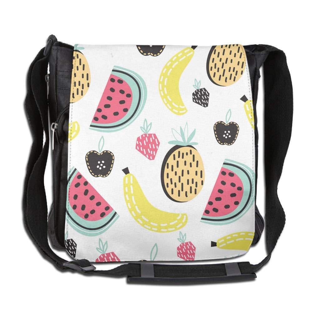 SARA NELL Messenger Bag,modern Fruit,Unisex Shoulder Backpack Cross-body Sling Bag