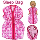 Singular-Point Kid Toys Sale!! Doll Accessories Doll Bedding Sleep Bag for 18inch American Girl or 15 Inch Baby (pink)