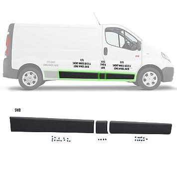 Lado derecho Moulding tira protectora Set (3 pcs) SWB, Reino Unido conductor, fuera de lugar: Amazon.es: Coche y moto