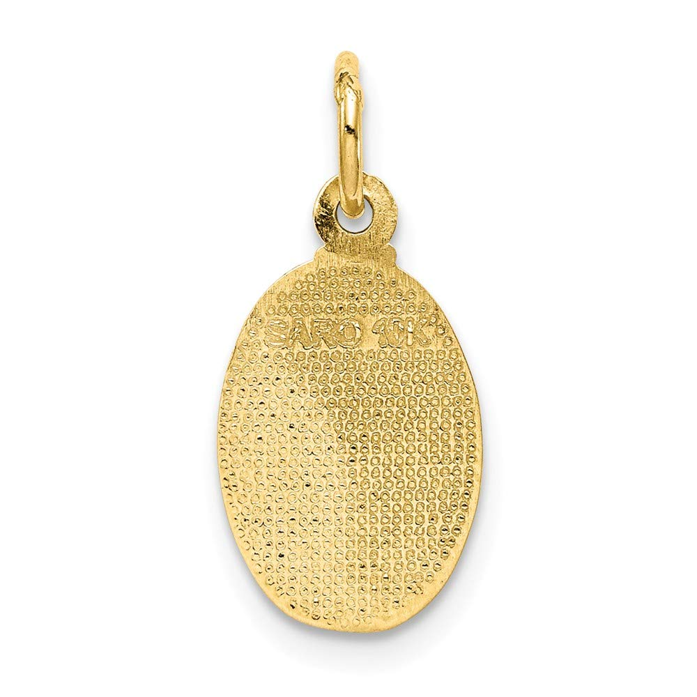 Christopher Pendant 10k Yellow Gold Solid Satin Polished St