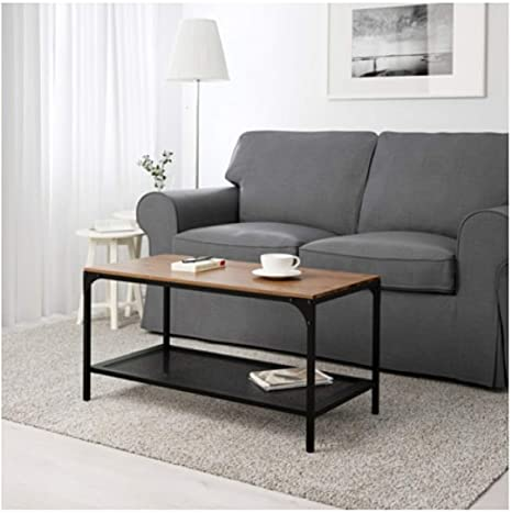 Amazon Com Ikea Fjallbo Coffee Table Black 703 354 86 Size 35 3 8x18 1 8 Kitchen Dining