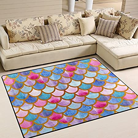 61o5qj4ERnL._SS450_ 50+ Mermaid Themed Area Rugs
