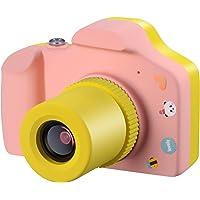 Samoleus Macchina Fotografica per Bambini, Mini Fotocamera Digitale Portatile, Digital Camera Kids Videocamera HD 1080P / 5MP / LCD da 1.5 Pollici / con Scheda SD da 16 GB (Rosa)