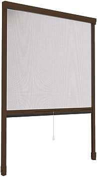 Mosquitera enrollable con ventana Smart por cerrojo de aluminio marrón, 100 x 160 cm: Amazon.es: Bricolaje y herramientas