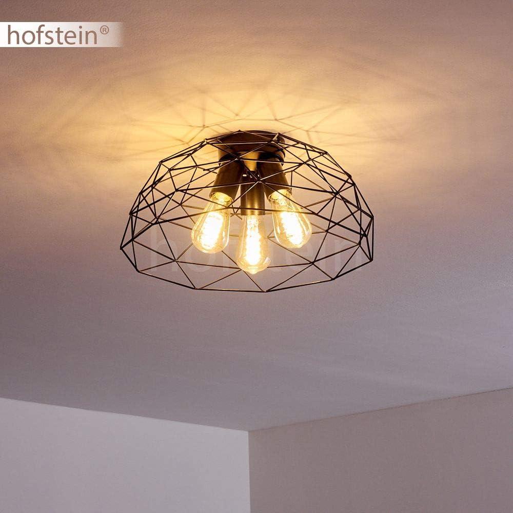 25 Watt Plafonnier Hajom en m/étal noir pour 3 ampoule E27 max luminaire moderne cr/éant un motif lumineux g/éom/étrique au plafond compatible ampoules LED