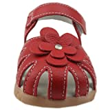 Orgrimmar Girls Sandals Genuine Leather Soft Flower Princess Flat Shoes Girl Summer Sandals Closed Toe Shoes