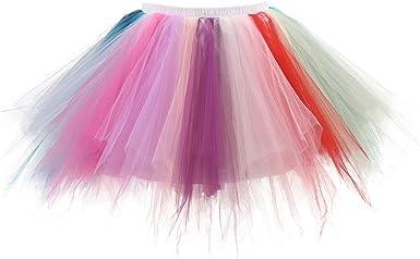 SHOBDW Disfraz de Carnaval!Mujeres Plisadas Falda de Gasa de ...