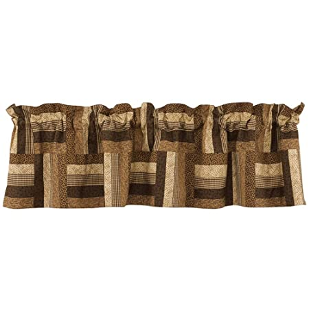 Park Designs Shade of Brown Lined Patch Valance, 60 x 14