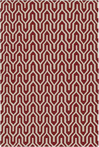 2'6'' x 8' Runner Surya Rug by Jill Rosenwald FAL1111-268 Turtledove Color Flatwoven in India ''Fallon Collection'' Geometric Pattern by Surya