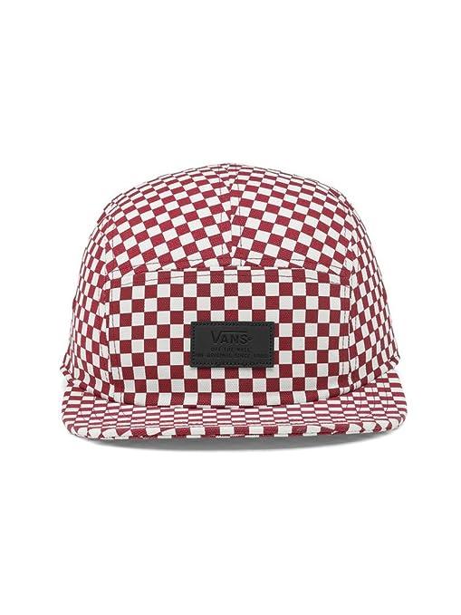 9aada1fd281 Amazon.com  Vans - Davis 5 Panel HAT  VN000UM2RLM  Red White Checkerboard  OS  Clothing