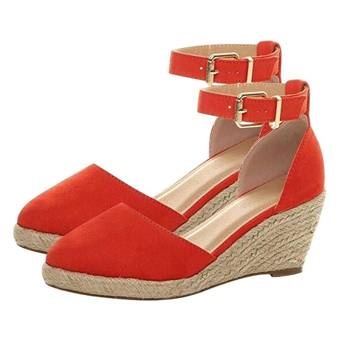 6c66025e139bf Amazon.com: Kenvina Sandals for Women's,Buckle Ankle Strap Sandals ...