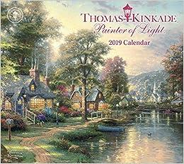 kinkade naptár Amazon.com: Thomas Kinkade Painter of Light 2019 Deluxe Wall  kinkade naptár
