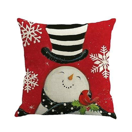 JiaMeng Funda Cojin Almohada, Navidad Que teñe la decoración de la Almohada de la Almohada de la decoración del hogar de la Cama de sofá: Amazon.es: Ropa y ...