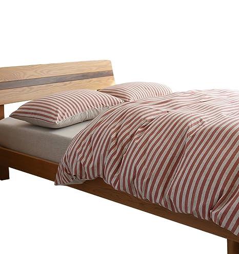Bettwäsche-Set Bettbezug 240x220+2 Kissenbezüg Baumwolle Faser Satin Point