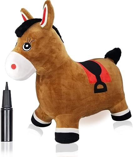 Amazon.com: Inpany Bouncy Horse Hopper - Caballo de salto ...