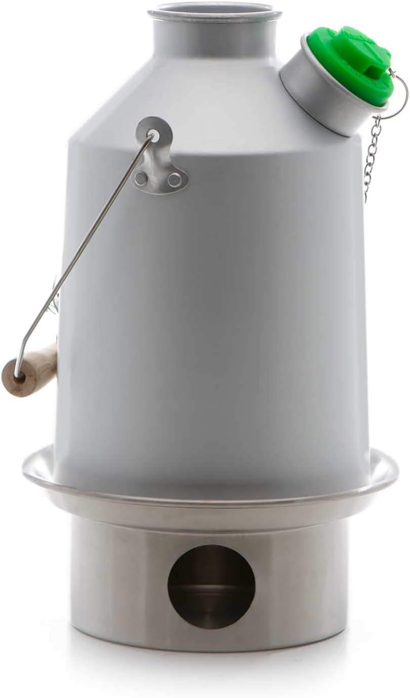 Scout Kelly Kettle ® 1.2ltr (aluminio) - Camping hervidor de agua y estufa de campamento en uno. Ultra rápido ligera madera estufa alimentada. Baterías, sin Gas, combustible no es gratis! Para la