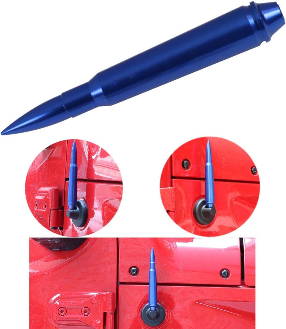 KOLEMO 5.7 Aluminum Bullet Antenna FM//AM Signal Reception for Jeep Wrangler JK 2007-2018 /& Jeep Wrangler JL 2018-2019 /& Jeep Wrangler TJ 1997-2006 Blue