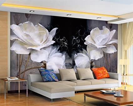 Wapel Customized Any Size Wallpaper Continental Lotus Abstract Oil