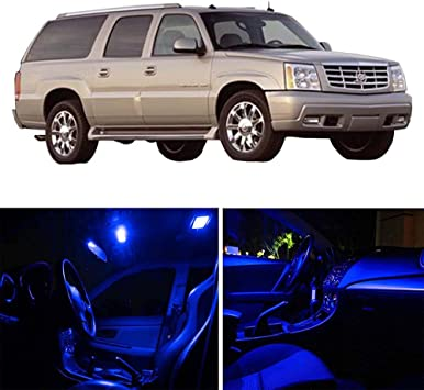 14-pc White LED Interior Light Bulbs Package Kit Fit 2007-2014 Cadillac Escalade