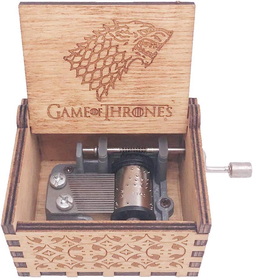 Yunsheng Juego de Tronos Caja de Música Mano Caja Musical Tallada Madera Túnica Temática Canción de Juego de Tronos: Amazon.es: Juguetes y juegos