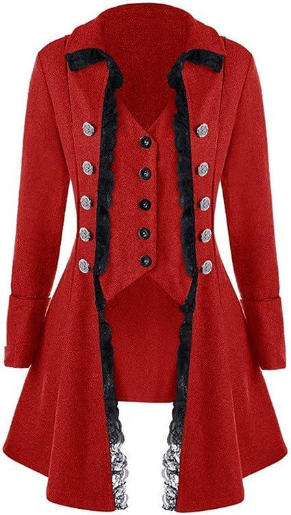 IZHH Mode Damen Mantel, Langarm Retro mittelalterlichen