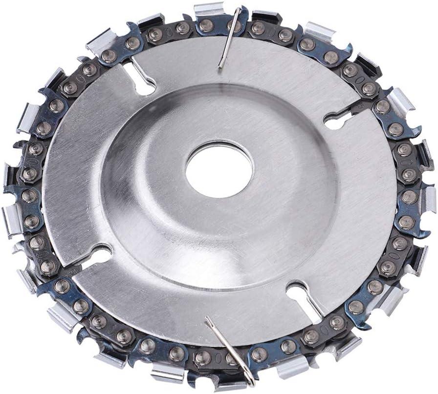 Disco de cadena de 4 pulgadas Amoladora angular de 22 dientes Placa de sierra de cadena fina para corte de tallado en madera