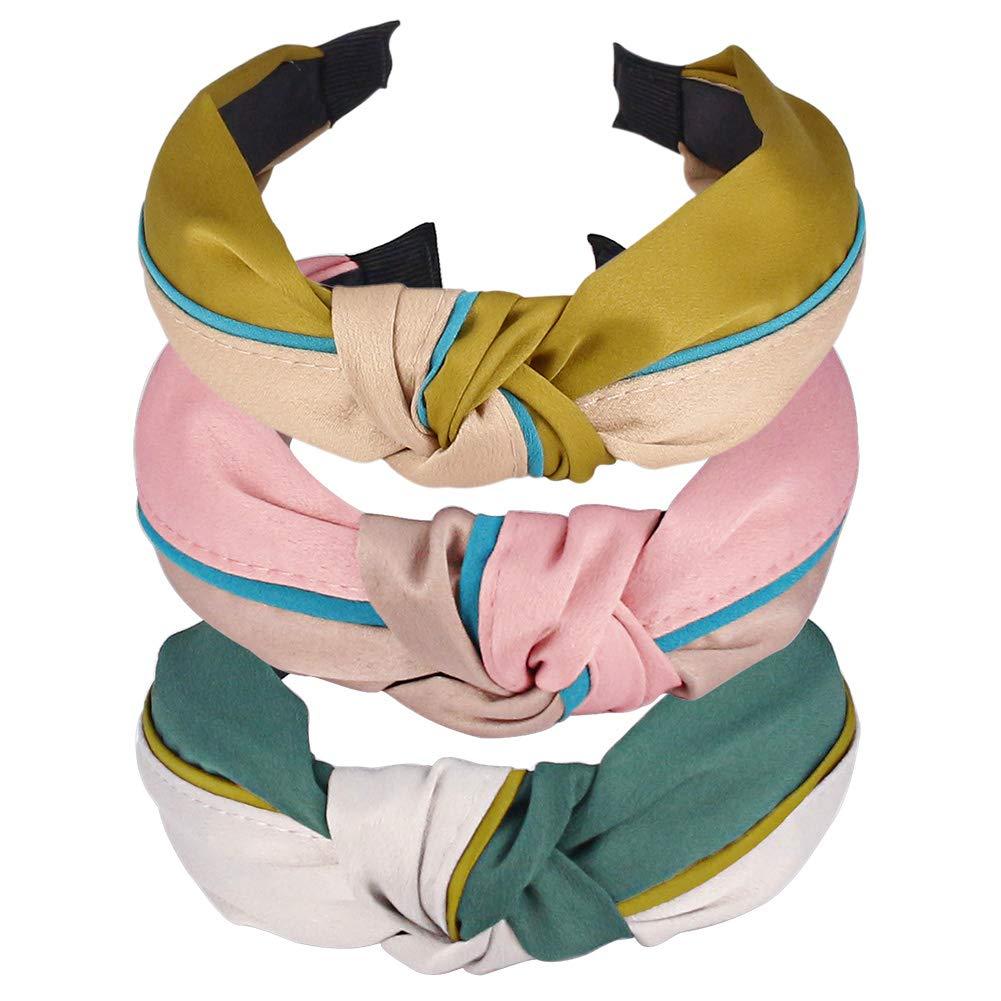 Women Cute Knot Bow Headband Top Cross Knot Wide Headband Twisted Hair band Hoop