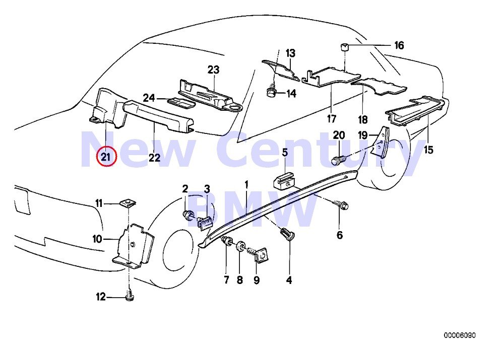 Amazon Com Bmw Genuine Body Equipment Vehicle Trim Trim Panel Wire