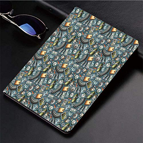 Compatible with 3D Printed iPad 9.7 Case,Cartoon Traveling Pattern with Coins Credit Cards Compass and,Lightweight Anti-Scratch Shell Auto Sleep/Wake, Back Protector Cover iPad 9.7