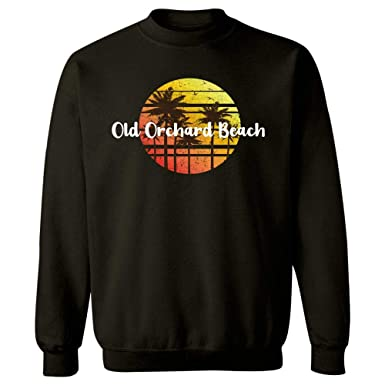 8f9bbda0e73 Vintage Old Orchard Beach Sunset Gift Beach Holiday Souvenir - Sweatshirt  at Amazon Men s Clothing store