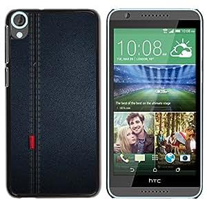 Qstar Arte & diseño plástico duro Fundas Cover Cubre Hard Case Cover para HTC Desire 820 ( Seam Fabric Cloth Pattern Textile Design)
