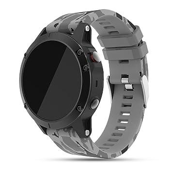 Feskio - Correa de repuesto para reloj Garmin Fenix 5 GPS, correa de silicona suave