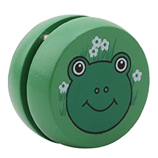 L_shop in legno yoyo Animal Toy Small Kid Gifts torneo concorrenza yoyo, Legno, Green Frog, As it is description
