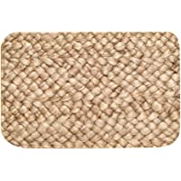Floor Mat, Resilience Flannel Soft Bathroom Mat, Brown for Kitchen
