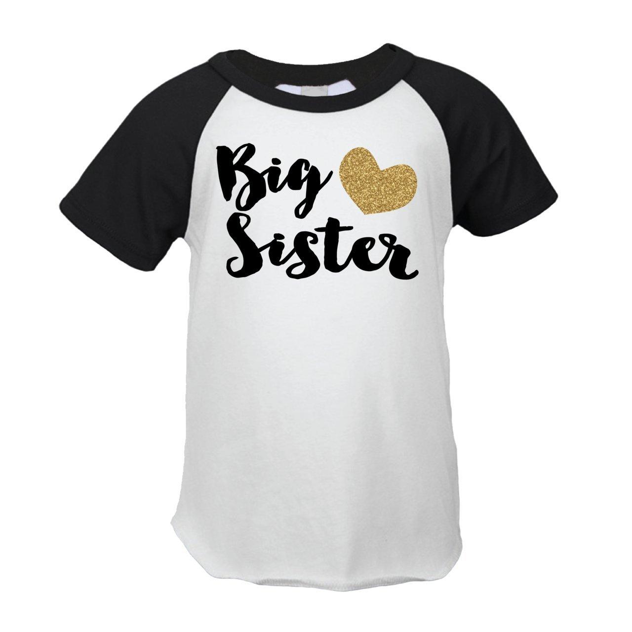 Sister T Shirt Designs   Amazon Com Bump And Beyond Designs Big Sister Shirt Gold Big