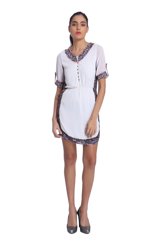 Ether Women's June Hand Embellished Shirt Dress