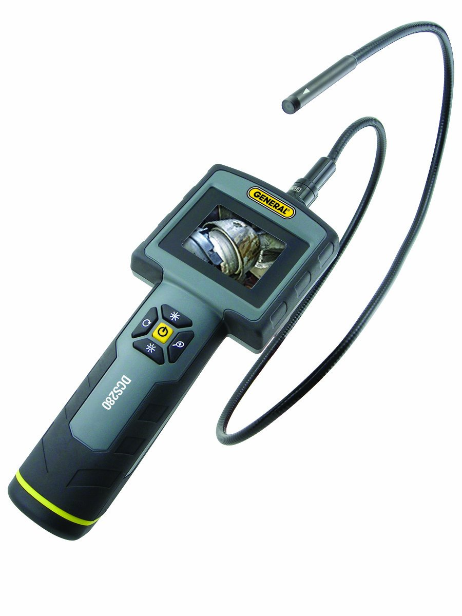 General Tools DCS280 Seeker Ruggedized Video Inspection System with 2.4-Inch Color Monitor and 9-mm Diameter 39-Inch Long Probe