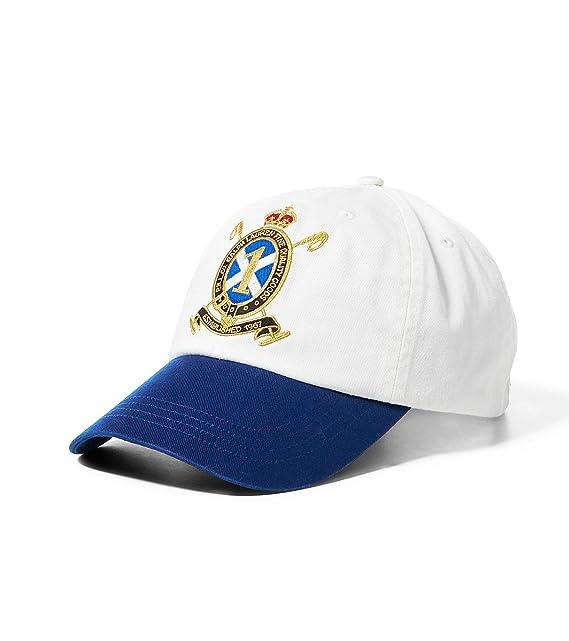 Ralph Lauren - Gorra de béisbol - para hombre blanco Talla única: Amazon.es: Ropa y accesorios