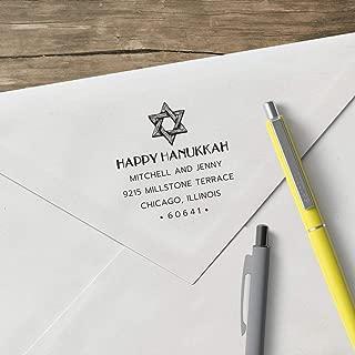 product image for World's Favorite Custom Address Stamp – Three Designing Women, Happy Hanukkah (CSH10019S) (Device & Design Clip)