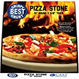 Only Pizza Stone with Thermarite for Best Crispy Crust. Durable, Certified Safe. Good in Ovens & Grills. Free 4'x5' Scraper + Bonus Recipe Ebook. 14 Inch Round