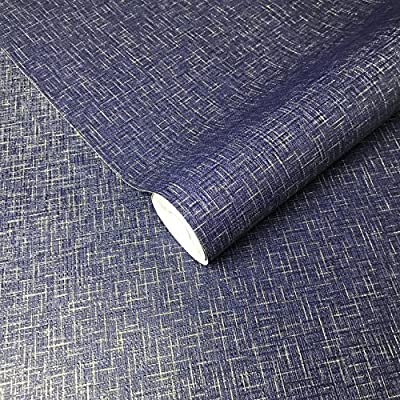 113.52sq.ft embossed Slavyanski wallcoverings plain Vinyl Non-Woven rolls Wallpaper navy blue gold metallic night stars jeans pattern modern textures textured coverings wallpapers paste the wall only