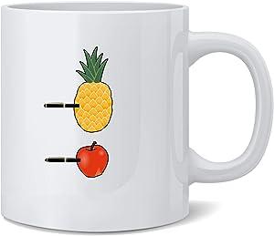 Poster Foundry PPAP Pen Pineapple Apple Pen Meme Song Ceramic Coffee Mug Tea Cup Fun Novelty Gift 12 oz