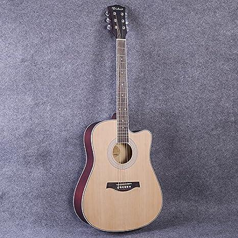 wxin una guitarra de madera en de madera de abeto, Folk Guitarra ...