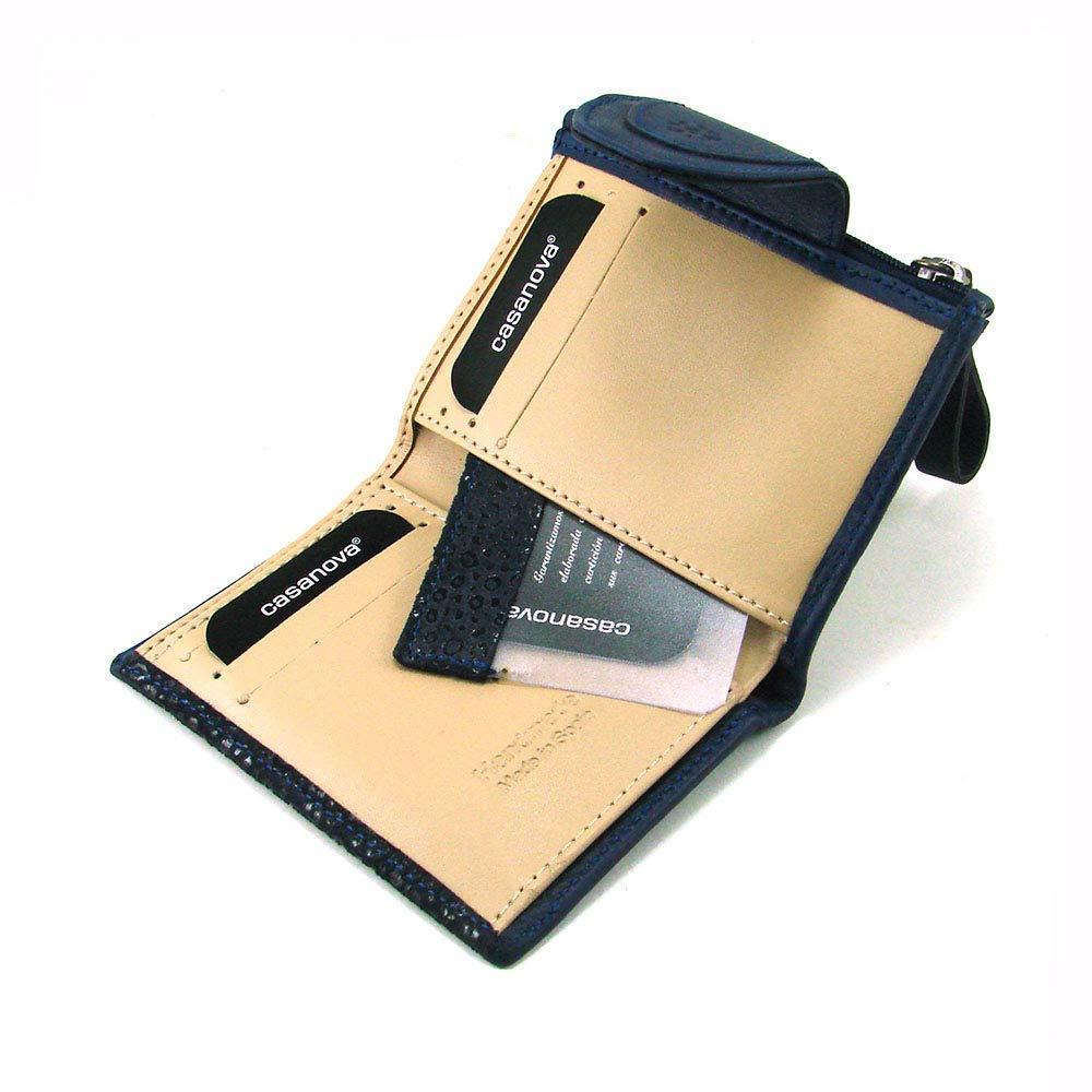 Cartera para mujer, hecho a mano en España, marca casanova, ideal para regalo, Ref. 24012 Azul: Amazon.es: Handmade