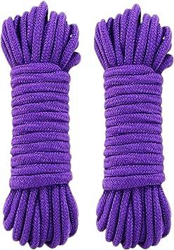 WYMAODAN Cordón de cuerda de algodón suave, 2 piezas 10 M / 33 ...