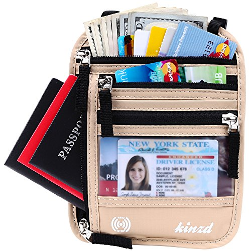 New Neck Belt Bag, Travel Pouch Hidden Passport ID Holder, C