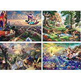Ceaco Thomas Kinkade 4-in-1 Multi Pack Disney Puzzles (500 Piece)