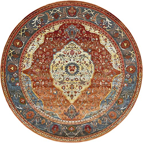 Rust Area 4' Rug Round (A2Z Rug Rust Red 8' 4 Feet Round St. Tropez Collection Traditional and Modern Area Rugs and Carpet)