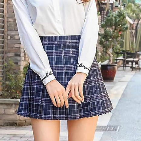 HEHEAB Falda,XS-XXL Azul Moda Mujer Verano Cintura Alta Falda ...