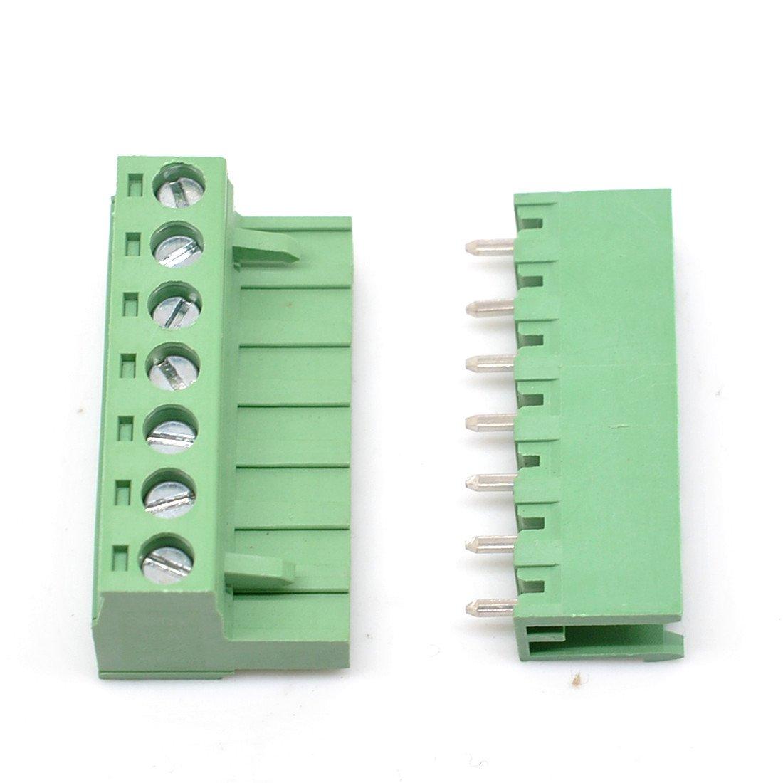 20 Set 3-Pin 5.08mm Pitch Male Female PCB Screw Terminal Block